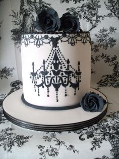 Tall Chandelier Cake By Cakes Lea Via Flickr