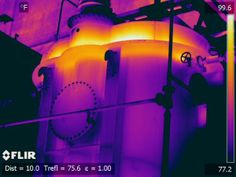 Infrared image shows Nitrogen blanket visible above oil level a on this power plant output transformer   http://www.infraredimagingservices.com