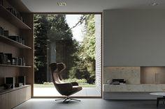 Architektur EFH #architektur #EFH #schweiz #Switzerland #aargau #Einfamilienhaus #Architekturbüro #Studiodati #Innenarchitektur #Backstein #Beton #Klinker  #Holz #modern #zeitlos Bathroom Lighting, Mirror, Studio, Modern, Furniture, Home Decor, Baking Stone, Detached House, Switzerland