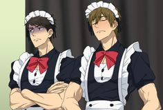 Mako and Sousou. Poor boys XD