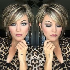 Short Layered Hair Style - 60 Classy Short Haircuts and Hairstyles for Thick Hair - The Trending Hairstyle Short Hair With Layers, Short Hair Cuts For Women, Short Hair Styles, Hair Short Bobs, Highlights For Short Hair, Layered Short Hair, Curly Short, Short Sassy Haircuts, Short Hairstyles For Women