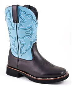 Blue & Brown Decorative Cowboy Boot - Women | Daily deals for moms, babies and kids