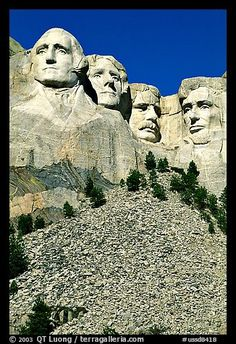 I've seen this....Faces of Four US Presidents carved in stone, Mt Rushmore National Memorial. South Dakota, USA