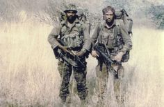 South African Recce squadron boys out on patrol.