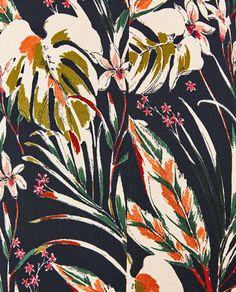 Image 7 of LONG CARDIGAN from Zara, floral illustration, pattern, art, graphic design inspiration. Textile Prints, Textile Patterns, Print Patterns, Floral Patterns, Illustration Blume, Pattern Illustration, Surface Pattern Design, Pattern Art, Pattern Flower