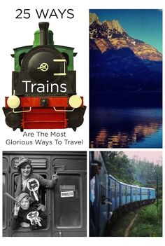25 Ways Trains Are The Most Glorious Way To Travel. I've only rode a real train once for a short time but I liked it. I need to travel more by train. Ways To Travel, Places To Travel, Travel Tips, The Places Youll Go, Places To See, Chattanooga Choo Choo, On The Road Again, Old Trains, Train Tracks