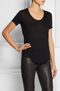 HELMUT LANG Micro Modal-blend jersey T-shirt $90 http://www.net-a-porter.com/products/507965