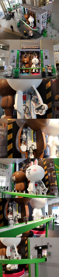 LINE Exhibition in Hongkong by LINE Creative, via Behance