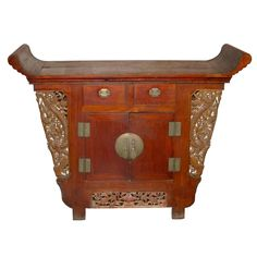Chinese Tongzhi Altar Cabinet   From a unique collection of antique and modern cabinets at https://www.1stdibs.com/furniture/storage-case-pieces/cabinets/