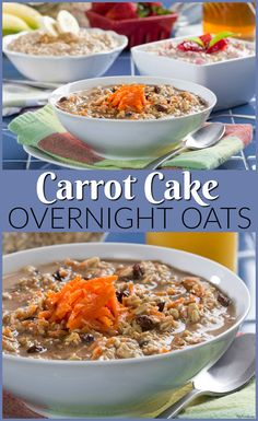 Now you can have your carrot cake for breakfast! These overnight oats are so simple and delicious!