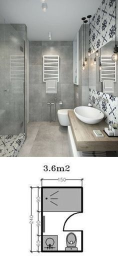 Modern Bathroom Have a nice week everyone! Today we bring you the topic: a modern bathroom. Do you know how to achieve the perfect bathroom decor? Small Studio Apartment Design, Small Apartment Decorating, Studio Design, Bad Inspiration, Bathroom Inspiration, Bathroom Ideas, Bathroom Remodeling, Remodeling Ideas, Bathroom Images