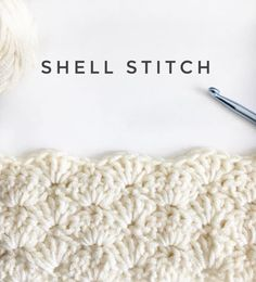 Crochet Stitches For Beginners This is the most basic of shell patterns I've found. It's a great start for beginners if you're ready to… - This is the most basic of shell patterns I've found. It's a great start for beginners if you're ready to… Crochet Shell Blanket, Crochet Shell Pattern, Crochet Stitches For Blankets, Crochet Stitches For Beginners, Crochet Shell Stitch, Crochet Stitches Patterns, Blanket Yarn, Picot Crochet, Crochet Baby