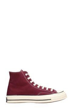 e556b5e8207 CONVERSE CHUCK 70 HI BORDEAUX CANVAS SNEAKERS.  converse  shoes