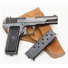 "*Hungarian Model 57 semi-automatic pistol, 7.62mm caliber, 4.5"" barrel, im"