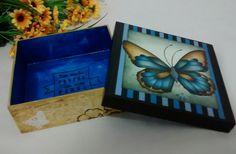 Caixa Borboleta Azul