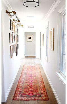 Gallery wall hallway styling