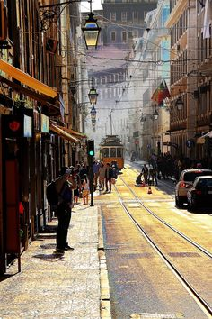Lisbon downtown at Fall, Portugal Wonderful Places, Great Places, Places To See, Beautiful Places, Places Around The World, Travel Around The World, Around The Worlds, Portugal Travel, Spain And Portugal
