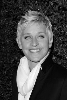 Ellen Degeneres - This lady CRACKS me up and has such a beautiful spirit and swag for days..<3 her!