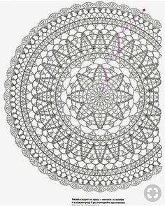 Best 12 Crochet Mandala + Diagram + Free Pattern Step By Step – SkillOfKing.Com - Her Crochet Crochet Doily Rug, Crochet Doily Diagram, Crochet Mandala Pattern, Crochet Cushions, Crochet Tablecloth, Crochet Stitches Patterns, Crochet Chart, Crochet Home, Filet Crochet