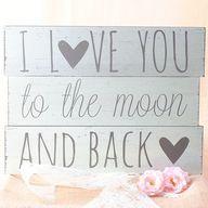 Amor hasta la luna y más 'acá' #carteles #bodas