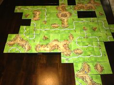 Carcassone - Score points by building roads, cities and farms.