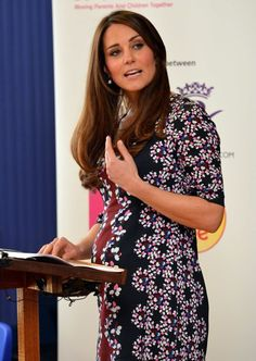 Britains Catherine, Duchess of Cambridge speaks to students at The Willows Primary School in the Wythenshawe district near Manchester, northwest England on April 23, 2013.