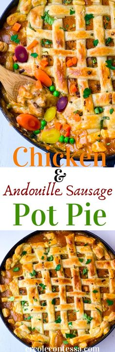 WMF Cutlery And Cookware - One Of The Most Trustworthy Cookware Producers Chicken And Andouille Sausage Pot Pie - Creole Contessa Best Beef Recipes, Fall Recipes, Easy Dinner Recipes, Chicken Recipes, Pasta Recipes, Good Food, Yummy Food, Southern Recipes, Amazing Recipes