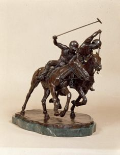 """Polo Ride Off 1""  POLO  Bronze  L36 cm H28cm  W 23cm  Base L 31cm  Base W 23cm  Weight 6Kg  $20,000"