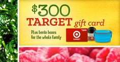 Win a $300 gift card to Target and bento boxes for the whole family!