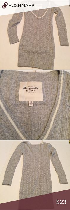 Abercrombie & Fitch V neck Gray Sweater Super soft super stretchy A&F pull over sweater in like new condition. No signs of wear. Abercrombie & Fitch Sweaters V-Necks