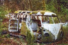 #Volkswagen #Bus fading away. #Nature #RustinPeace