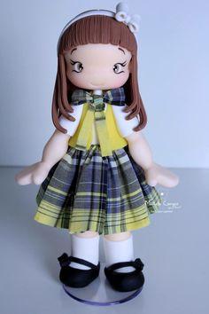 Maria Joaquina! Boneca Enfeite de mesa 20 cm altura!