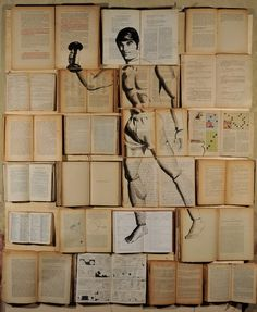 Collage Made From Old Books