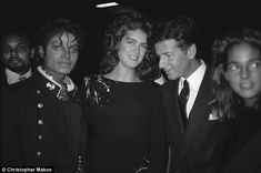 MJ, actress Brooke Shield and famous designer Calvin Klein at the New York Metropolitan Museum of Natural History February 7 1984
