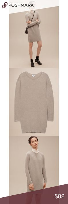 """Campanule Sweater Dress Perfectly slouchy sweaterdress - Soft blend of cotton, cashmere and silk - Colour is """"Heather bone"""" - Relaxed fit, just shy of loose - Fits true to size - Hand wash - Perfect condition (except for a slight discolouration on right arm). Aritzia Dresses Long Sleeve"""