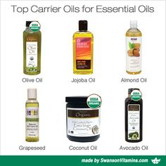 Top Carrier Oils for Essential Oils and Aromatherapy.