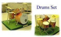 No way!! A printable Paper Drum Set!