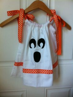 Ghost Halloween Pillowcase Dress 18 Month by kidsinacandyshop, $18.00