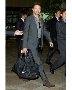 All men should look this sharp while traveling!