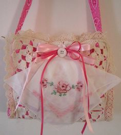 Pink Shabby Sack by LindaBloom on Etsy