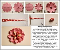 Bits of Paper: Rolled Flower Tutorial