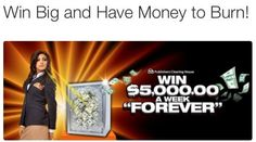 """Those who want to be the $5,000 A Week """"Forever"""" prize winner on 2/27 --- """"LIKE"""" and """"SHARE"""" to show it! There's still time to enter at www.pch.com! #PCH #FOREVER  I want to win $5,000.00 a week forever"""