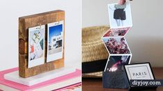 34 DIY Photo Albums To Showcase All Those Pics Looking for some cool ways to display all those photos you have on your phone and in boxes When it nbsp hellip Crafts To Make, Easy Crafts, Easy Diy, Diy Sewing Projects, Projects To Try, Diy Instagram, Elf Auf Dem Regal, Dollar Store Crafts, Diy Photo