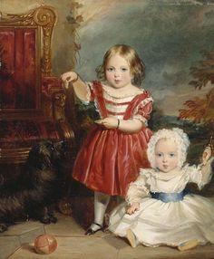 """""""Victoria, Princess Royal and Albert Edward, Prince of Wales"""", Thomas Musgrove Joy, 1843; Royal Collection Trust 400804"""
