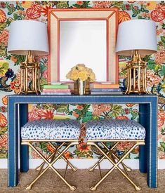 Chinoiserie entryway
