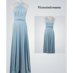 Blue Maxi Evening Dress ($28) ❤ liked on Polyvore featuring dresses, silver, women's clothing, short formal dresses, blue maxi dress, long blue dress, long cocktail dresses and formal cocktail dresses