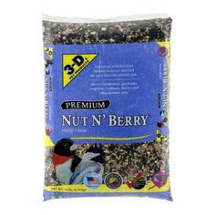 (discounted 3 Pack) Pet Products Premium Nut N' Berry Dry Wild Bird Food, 14 LB Wild Bird Food, Wild Birds, 3 D, Berries, Pet Products, Fruit, Pets, Walmart, Finches
