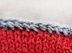 Yarn over cast off.