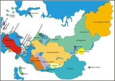 Hun Devleti Zamanı Ba-H'i-Mi'ler Ci-Hu'lar Cye-Gu'lar (Kırgızlar) Çi-Gu'lar Dinğ-Linğ'ler Du-Bo'lar Gav-çığ'lar Hui-Ho'lar (Uygurlar) H'i'ler (Ak Hi'ler) H'yunğ-nu'lar (Hun Kağanları) Ma-ginğ'ler MU-MA Tu-Çüe'ler Tığ-Lo'lar To-Ba'lar (Tabgaçlar?) Tu-Cüe'ler (Orhun Türkl