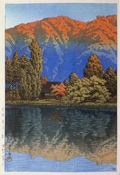 Morning at Aonuma by Kawase Hasui, 1949 (published by Watanabe Shozaburo)